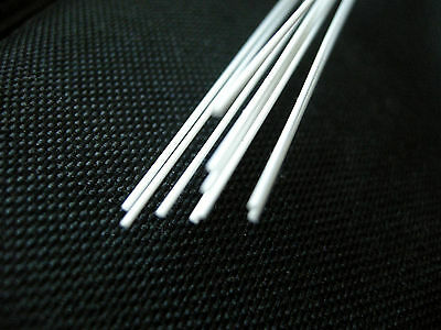 Plastic Styrene Round Rods - (MR-40) - 10pcs x 1.0mm x 20cms(200mm)