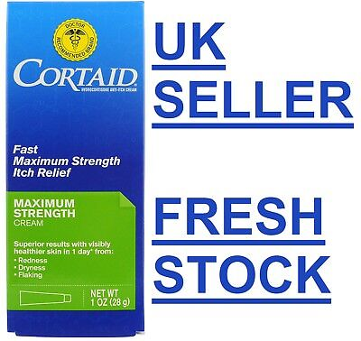 Cortaid MAX STRENGTH Itch Relief Cream Hydrocortisone Redness/Itching/Flaking