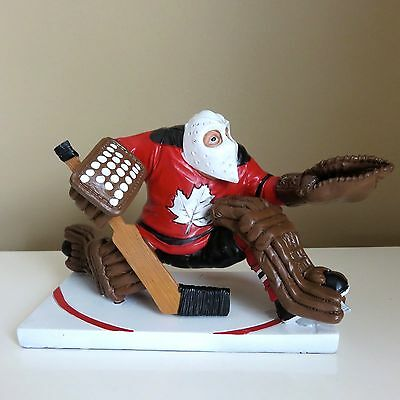 GOALIE HOCKEY PLAYER WARREN STRATFORD MALE FIGURE mask red jersey Maple Leaf