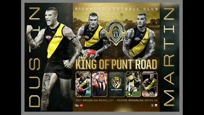 2017 Brownlow Medallist Dustin Martin King Of Punt Road Lithograph