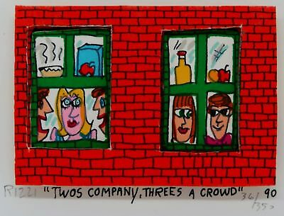 James Rizzi » Twos Company, Threes A Crowd «  Seltenes 3D  aus 1990