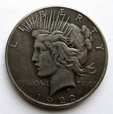 Two Face Dollar / Film Batman - Münze - Peace Dollar 1922 - Silbermünze