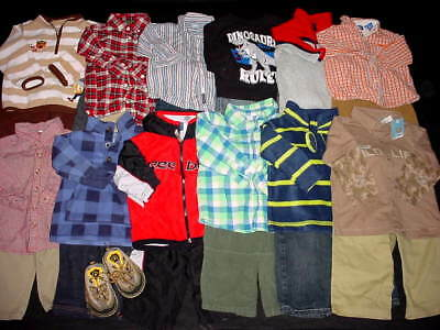 USED BABY BOY 12 18 MONTHS TOPS PANTS FALL WINTER OUTFITS CLOTHES LOT FreeShip