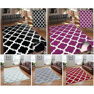 A2Z Rug Modern Trendy Geometric Trellis Living Room Area Rugs Runners Carpets
