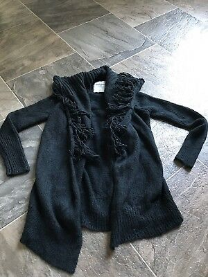 Girls Abercrombie & Fitch Black Sweater Size 5/6 VGUC