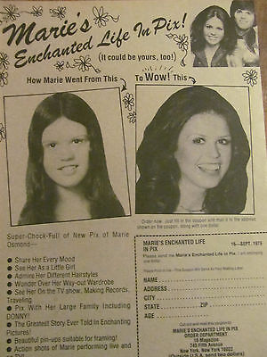 Marie Osmond, Full Page Vintage Clipping, Ad