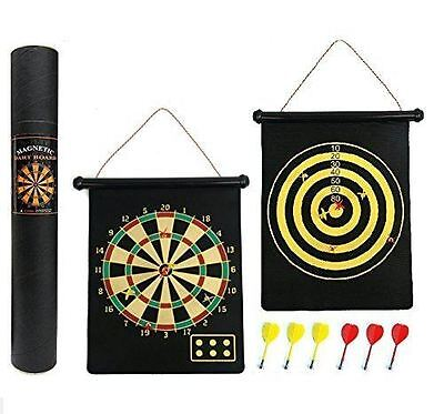 Reversible Magnetic Dartboard - Gift Boxed, Easy to Roll Up and Store with Darts