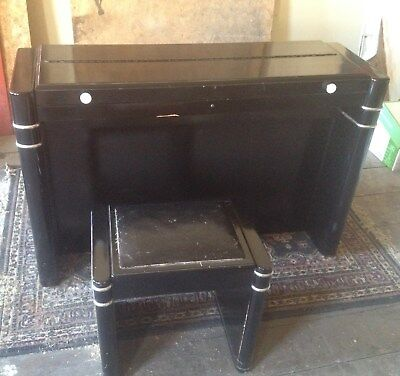 Eavestaff Mini piano art deco with matching bench
