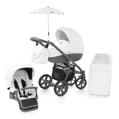 BabyStyle Prestige 2 Active Chassis Pram Package (Thunder Cloud) Inc. Cosytoes