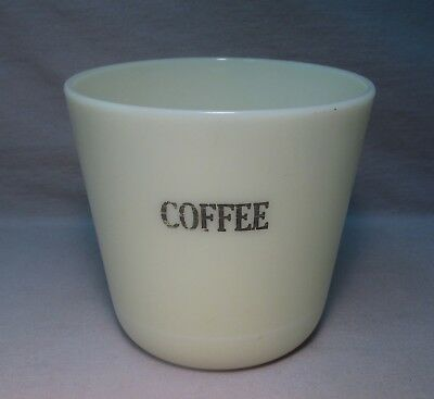 Old MCKEE Custard Ivory Glass COFFEE Canister Jar, No Lid
