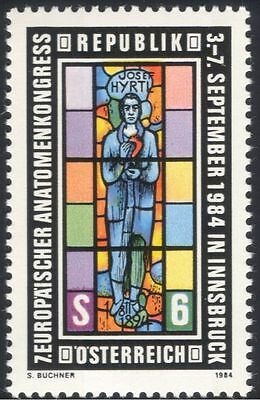 Austria 1984 Anatomists Congress/Medical/Anatomy/Stained Glass/Art 1v (at1009a)