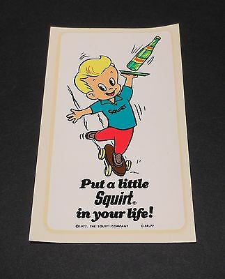 """Vintage Squirt 1977 Decal """"Squirt Boy"""" 2.25"""" x 4.25"""""""