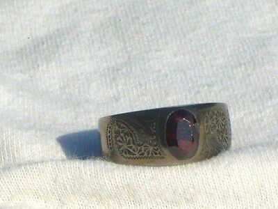 Victorian Genuine Garnet RING Jewelry sz 8 Elegant