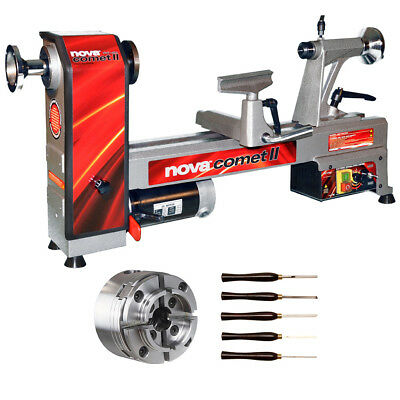 Nova 46302 Comet II Bench Lathe Package with Chuck and Turning Tools New