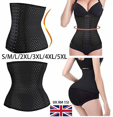 UK X Breathable Waist Tummy Girdle Belt Sport Body Shaper Trainer Control Corset