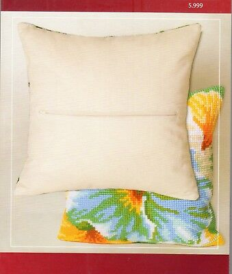ZIPPED CUSHION BACK for 16 x 16 INS COLLECTION D'ART ~ CDA CROSS STITCH KIT
