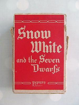 Snow White And The Seven Dwarfs Vintage Card Game By Pepys Complete