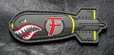 Dropping F Bomb WW 2 Style Tactical morale Hook Patch (HOOK-3D PVC Rubber-MTB2)