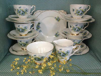 Vintage Royal Stafford 21 pce teaset.Cup,saucer,plate,milk jug,sugar bowl etc.