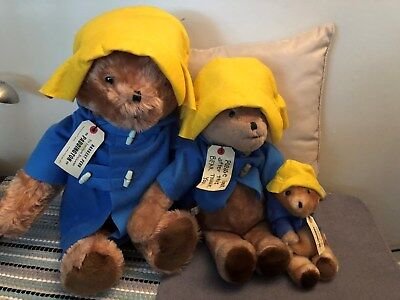 "3 Bears Vintage 1975 24"",19"",9  Paddington Bear, Darkest Peru to London England"