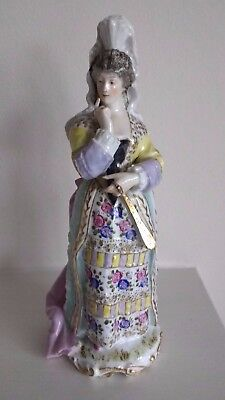 Antique Figurine of a Lady  'Precieuse' - Factory? Sitzendorf / Sevres / Meissen