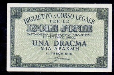1 Drachme From Greece Italy Isole Jonie Unc