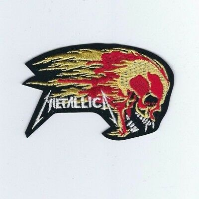 Metallica Flaming Skull Embroidered Patch !