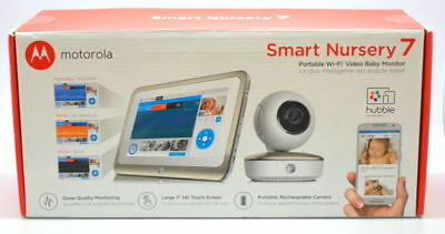 New in Box Motorola MBP877CNCT Smart Nursery 7 WiFi Video Baby Monitor