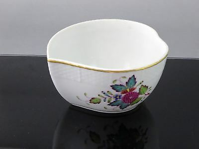 HEREND Hungary CHINESE BOUQUET MULTICOLOR Heart Bowl