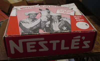 1950's NESTLE'S WESTERN ROY ROGERS DALE EVANS CHOCOLATE STORE DISPLAY CANDY BOX