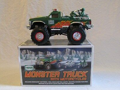 2007 Hess Monster Truck with Motorcycles Mint In Box
