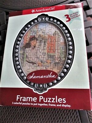 2007 American Girl Samantha 3 Frame Puzzles-Put Together,Frame 50 Piece Each New