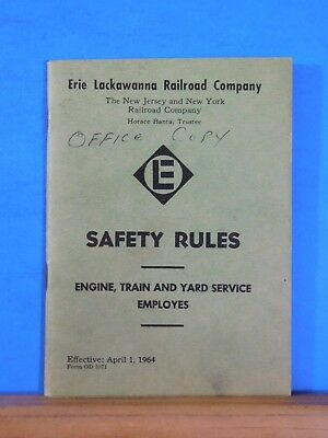 Erie Lackawanna Railroad Company Safety Rules 1964 Engine Train and Yard