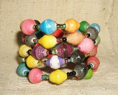 African Recycled Paper bracelet cuff bangle new Africa recycle Africa jbpm53