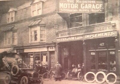"MAIDSTONE MOTOR GARAGE, 47, HIGH STREET, MAIDSTONE, KENT 7x5"" REPRODUCED PRINT"