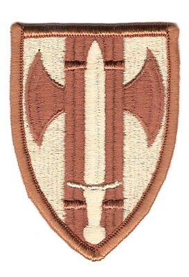 Army Patch:  18th Military Police Brigade - tan, merrowed edge