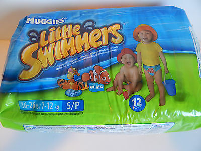 New Huggies Little Swimmers 16-26 Lbs S/P 12 Count Tigger Nemo
