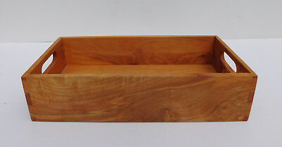 Finger Jointed Wood Box Tray w Handle Holes The Healy Family Craftsmen Yelm WA