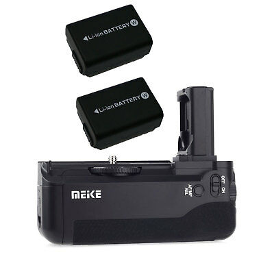 Meike MK-A7 Vertical Battery Grip +2pcs NP-FW50 for Sony A7 A7r A7s as VG-C1EM