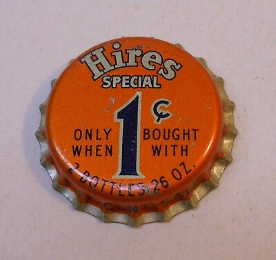 "Vintage Hires ""Special 1 cent""..cork..unused..Soda Bottle Cap"