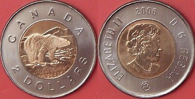 Brilliant Uncirculated 2006 Canada Logo 2 Dollars From Mint's Set
