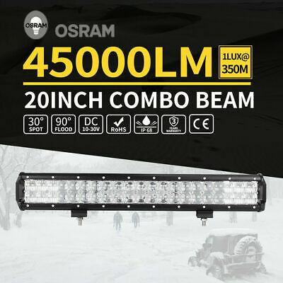 20inch Osram LED Light Bar 5D Lens SPOT FLOOD Offroad Driving Work 4x4 Truck 23""