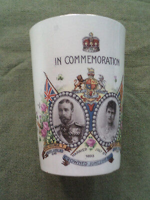 #yy,  1911  King George V  Coronation Mug - Crack