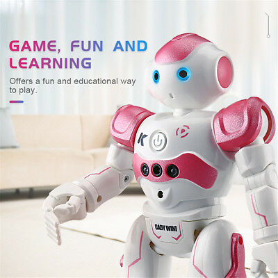 RC Remote Control Robot Smart Action Walk Dancing Gesture Sensor Toy Gift Pink