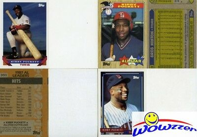 Rare Lot of (21) Different Topps Kirby Puckett ERROR CARDS from 1987-1992 HOF!