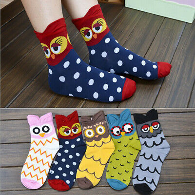 Unique Women Girl Owl Printed Lovely Cute Cotton Warm Soft Ankle Stocking Socks
