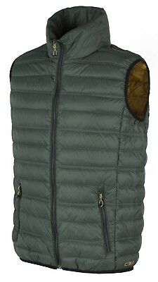Campagnolo Men's Leisure Outdoor Down Vest Green Yellow