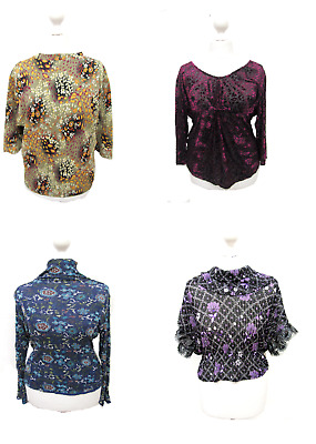 18 X Women's Tops Mix High Neck Polo Scoop Neck Wholesale Clothing Joblot # 2