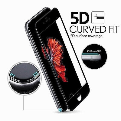 For iPhone X XS 7 6s 8 Plus 5D Curved Full Cover Tempered Glass Screen Protector