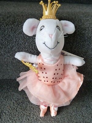 ANGELINA BALLERINA - WHITE PRINCESS BALLET DANCING MOUSE with tag